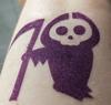 Death Comes to Your Little Town - matte dark purple eyeshadow