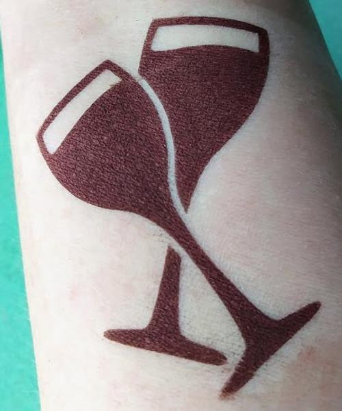 Blood Soiree - metallic burgundy red eyeshadow