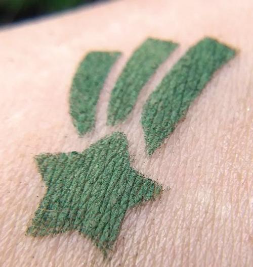 That's a Meteor - matte deep forest green eyeshadow