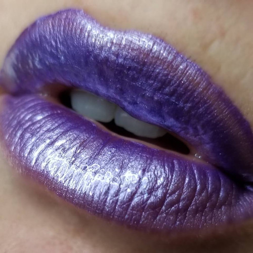 Her Ghoul Friday metallic lavender lip gloss