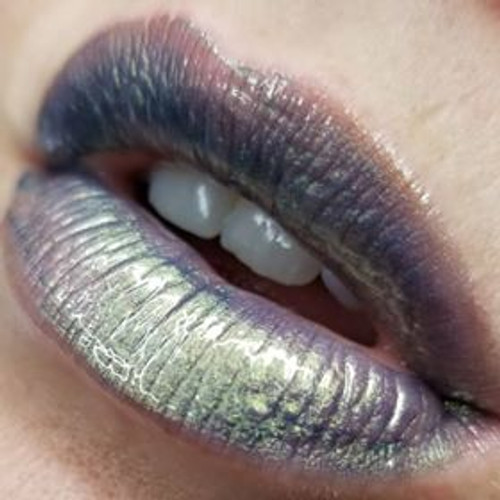 Good Ghoul Gone Bad metallic blue-green-gold lip gloss
