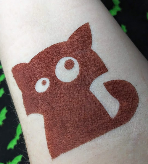 Rabid - matte grungy deep red eyeshadow