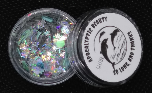 So Long, and Thanks - dolphins & stars chunky glitter blend