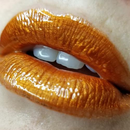Brimstone (LE) metallic orange lip gloss