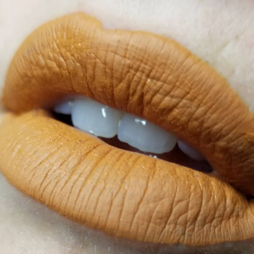 Samhain - orange liquid lipstick
