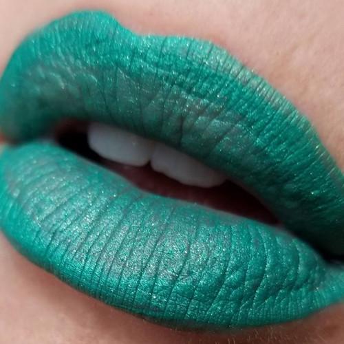Underneath the Mistletoe green liquid lipstick (LE)