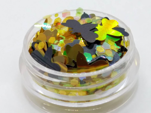 Deadly Bees (LE) - black and gold bee glitter blend
