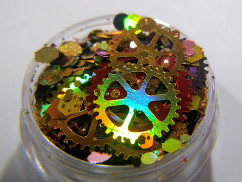 What Makes You Tick? - steampunk inspired glitter