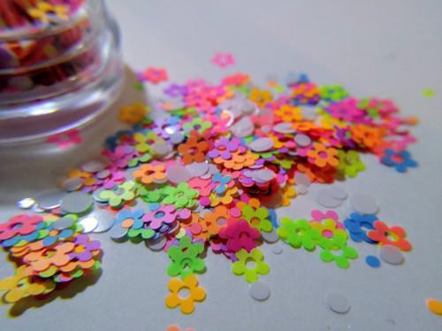 Neon Bouquet (LE) -  neon daisy glitter blend