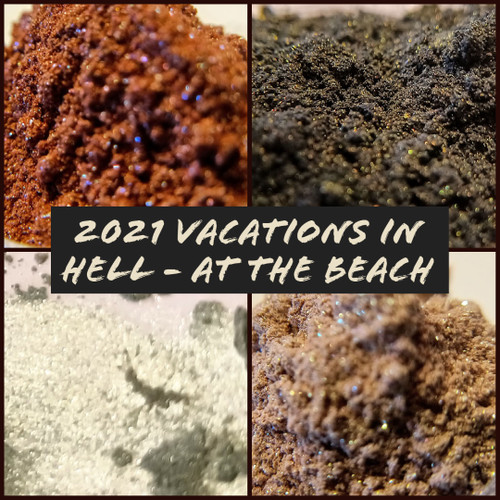 2021 Vacations in Hell - At the Beach Eyeshadow Collection Bundle - 4 eyeshadows