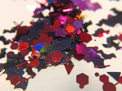 Blood is Lives (LE) - bat & blood droplet glitter blend