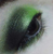 Vogon Poetry - metallic slime green eyeshadow