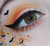 All Hallows' Eve chunky orange & black bats glitter blend