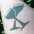 Banshee Book Club - metallic forest green eyeshadow