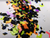 Vampire Rave - black and neon chunky bat glitter blend