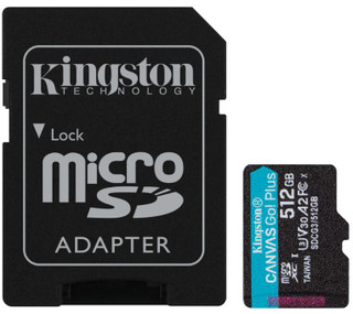 Kingston Go Plus 512gb Memory Card with Adapter