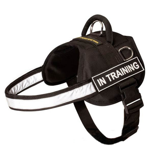 Nylon Adjustable K9 Vest with Reflective Strap & Patches