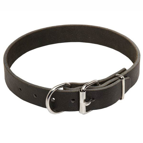 Extra Wide Leather K9 Collar