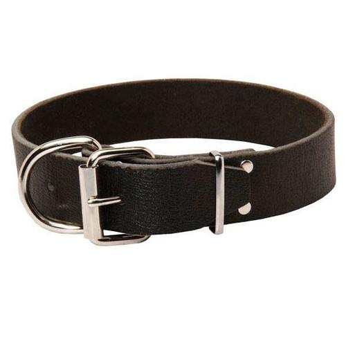Super Wide Leather K9 Collar
