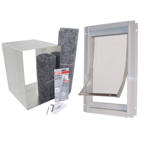 Ideal Deluxe Dog Door with Universal Wall Kit