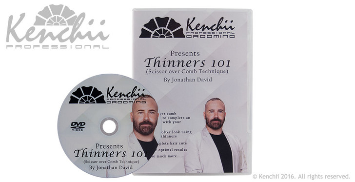 Thinners 101 Scissor Over Comb with Jonathan David DVD.