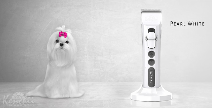 Kenchii Flash™ Pet Grooming Clipper in Pearl Black  - Product Display