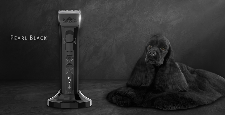 Kenchii Flash™ Pet Grooming Clipper in Pearl Black