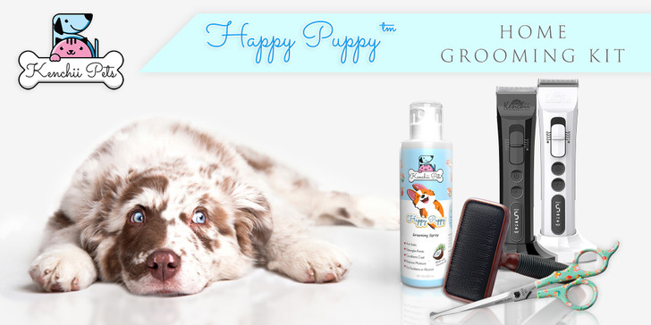 KenchiiPets™ |   Happy Puppy™ - Home Grooming Kit w/Flash™ Clipper