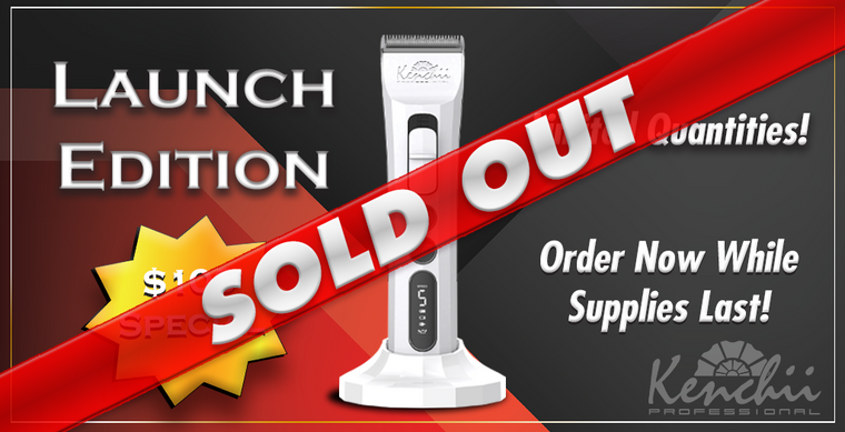 Launch Special:  Kenchii Flash™ Digital Cordless Clipper, Pearl White