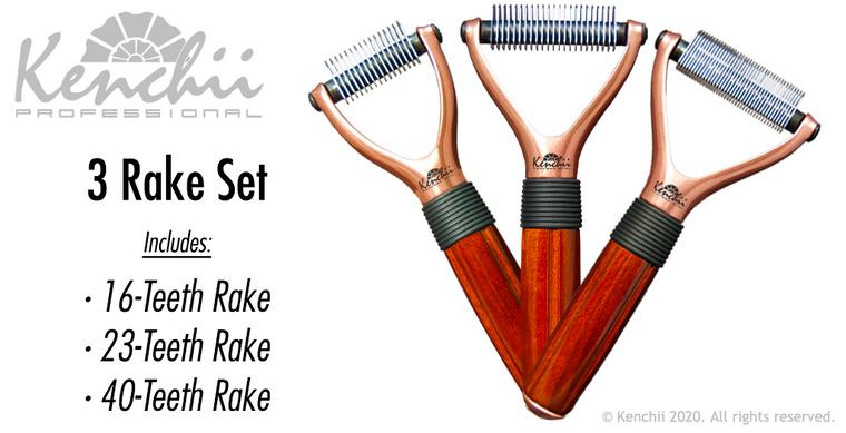 3 Rake Set.  Included in the Set: 16-Teeth, 23-Teeth, and 40-Teeth Rakes.