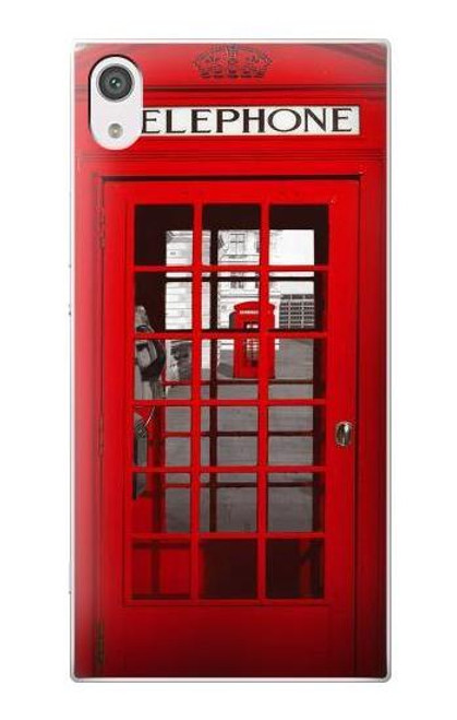 S0058 British Red Telephone Box Case For Sony Xperia XA1