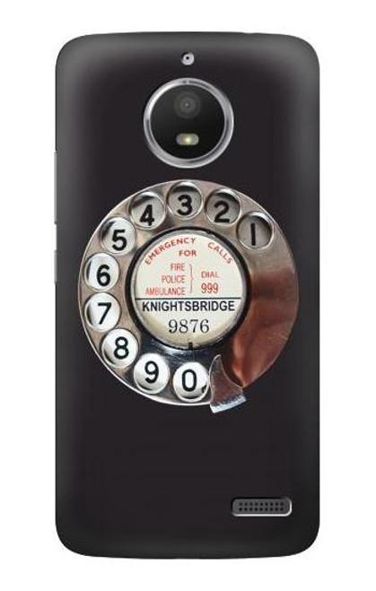 S0059 Retro Rotary Phone Dial On Case For Motorola Moto E4