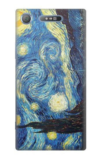 S0213 Van Gogh Starry Nights Case For Sony Xperia XZ1