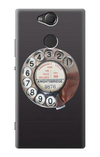 S0059 Retro Rotary Phone Dial On Case For Sony Xperia XA2