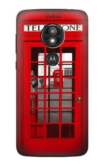 S0058 British Red Telephone Box Case For Motorola Moto E Play (5th Gen.), Moto E5 Play, Moto E5 Cruise (E5 Play US Version)