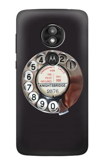 S0059 Retro Rotary Phone Dial On Case For Motorola Moto E Play (5th Gen.), Moto E5 Play, Moto E5 Cruise (E5 Play US Version)
