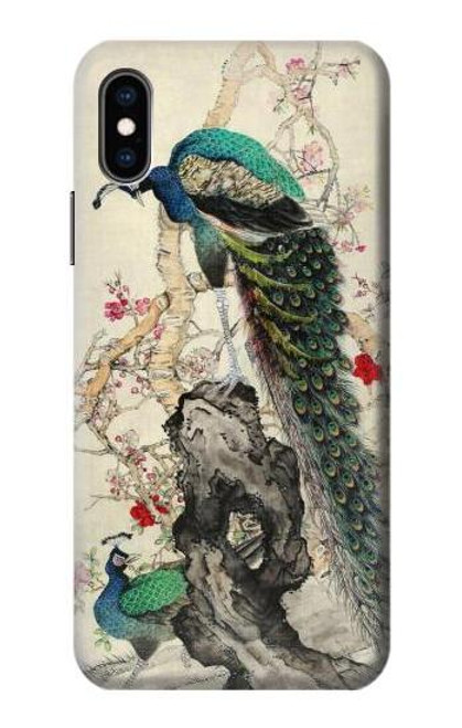 S2086 Peacock Painting Case For iPhone X, iPhone XS