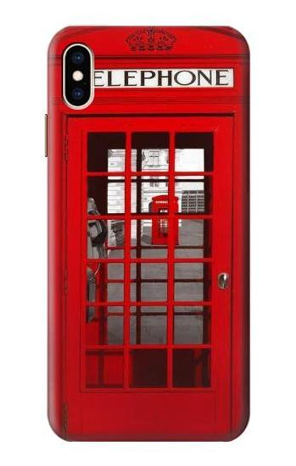 S0058 British Red Telephone Box Case For iPhone XS Max