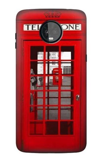 S0058 British Red Telephone Box Case For Motorola Moto Z3, Z3 Play