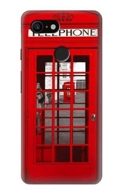 S0058 British Red Telephone Box Case For Google Pixel 3