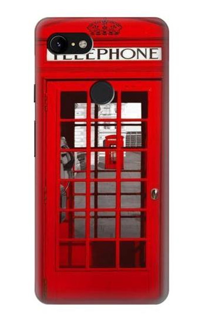 S0058 British Red Telephone Box Case For Google Pixel 3 XL