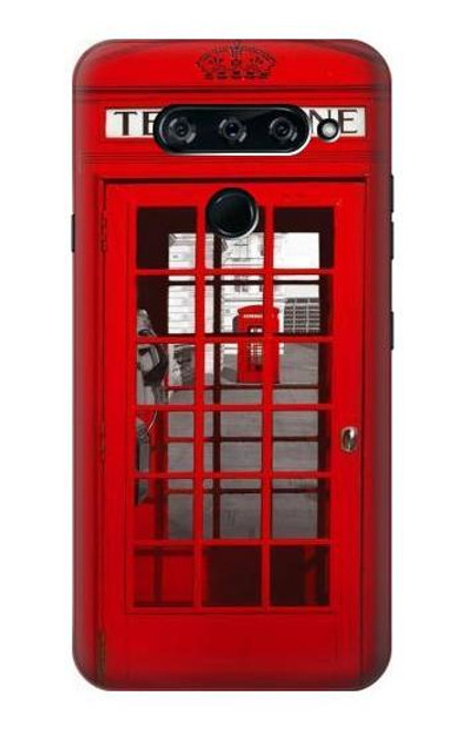 S0058 British Red Telephone Box Case For LG V40, LG V40 ThinQ