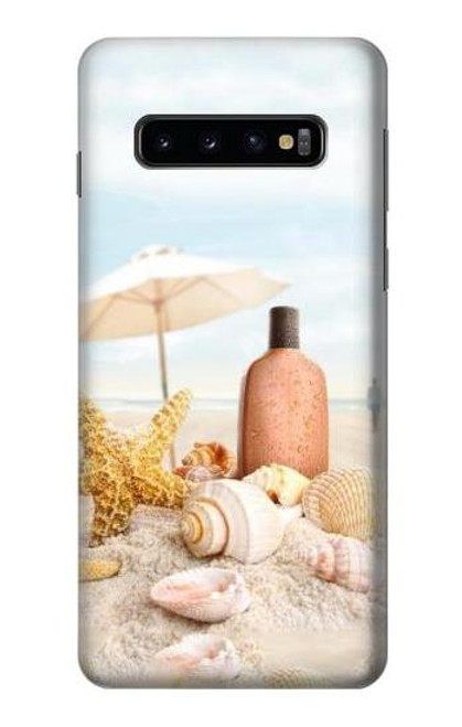 S1425 Seashells on The Beach Case For Samsung Galaxy S10
