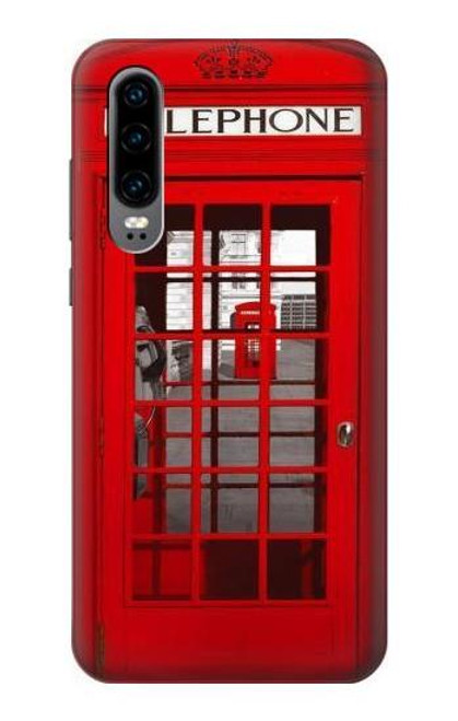 S0058 British Red Telephone Box Case For Huawei P30