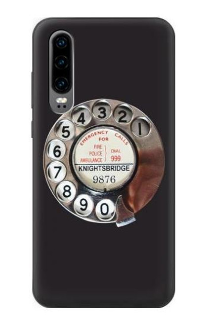 S0059 Retro Rotary Phone Dial On Case For Huawei P30