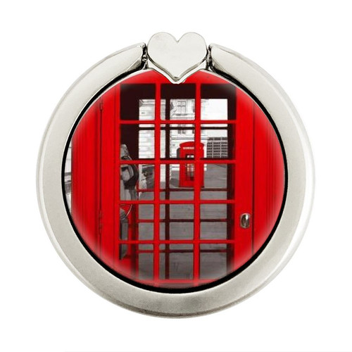 S0058 British Red Telephone Box Graphic Ring Holder and Pop Up Grip