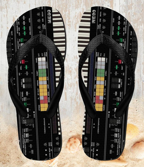 FA0002 Synthesizer Beach Slippers Sandals Flip Flops Unisex