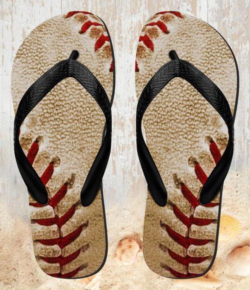 FA0005 Baseball Beach Slippers Sandals Flip Flops Unisex