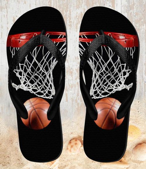 FA0007 Basketball Beach Slippers Sandals Flip Flops Unisex