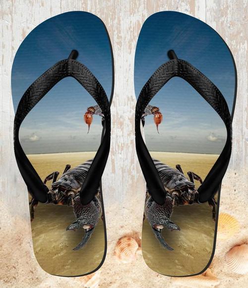 FA0013 Desert Scorpion Beach Slippers Sandals Flip Flops Unisex